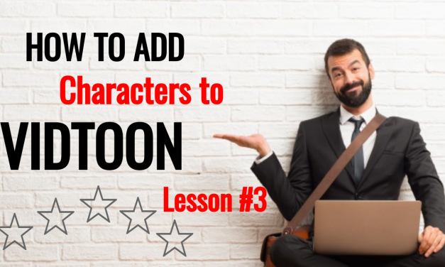 How to Add A Character To Animation Video Maker Vidtoon Software