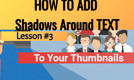 How To Create Borders and Shadows Around TEXT in Thumbnails Using Instathumbs